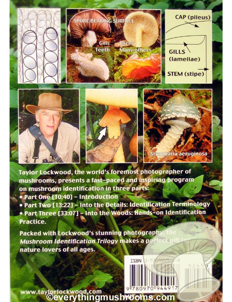 The Mushroom Identification Trilogy DVD by Taylor F. Lockwood