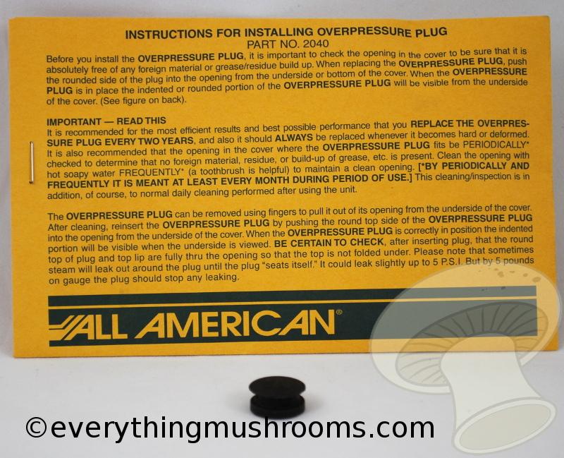 Overpressure Plug Pressure Cooker/Canners, Black Color (Z000124)