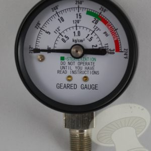 Geared Steam Gauge (Sterilizers Only) (Z000128)